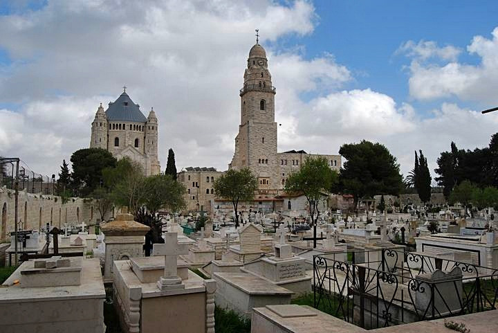 Cemeteries on the west side of Mount Zion