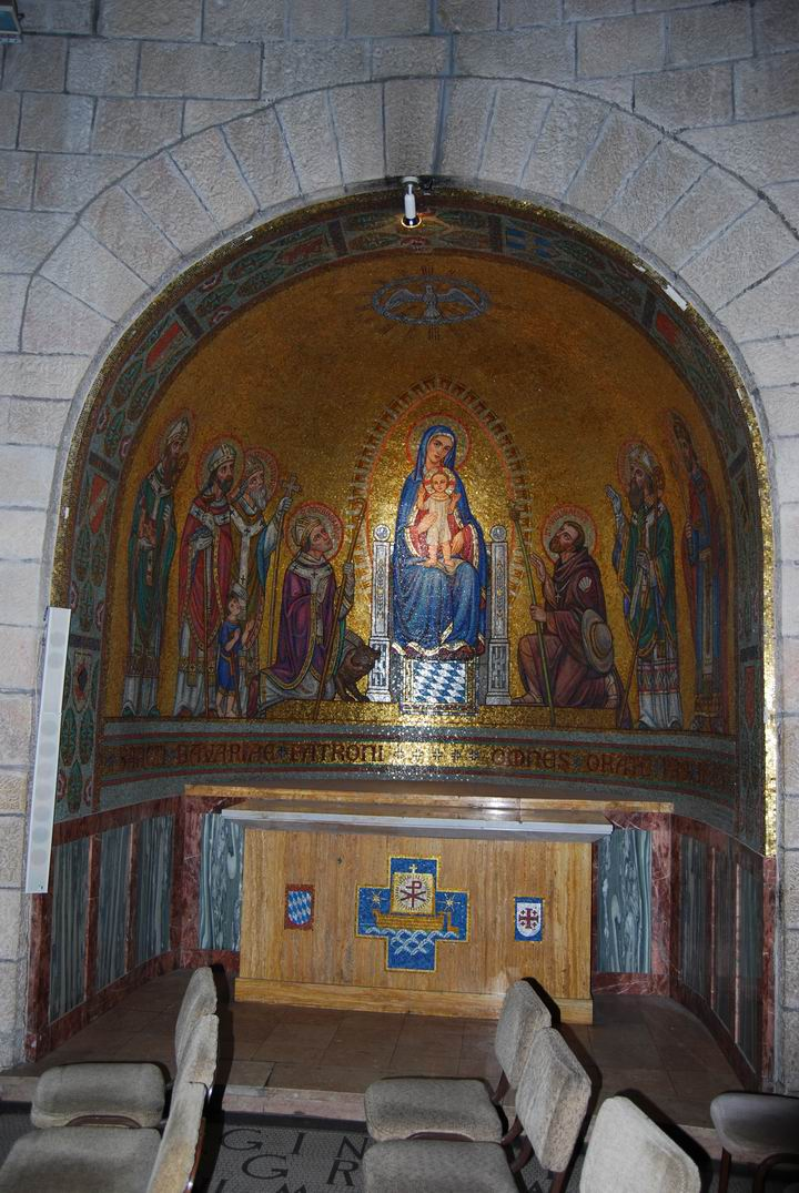 Dormition Abbey, mount Zion: side chapel