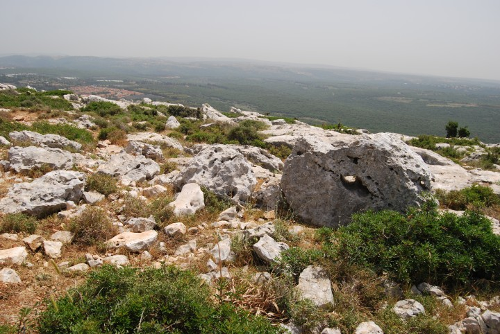 Panorama from above the Keshet cave