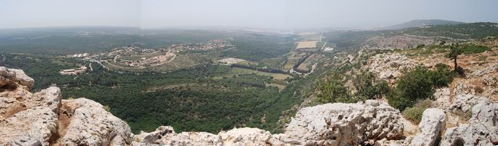 Panorama from Keshet cave