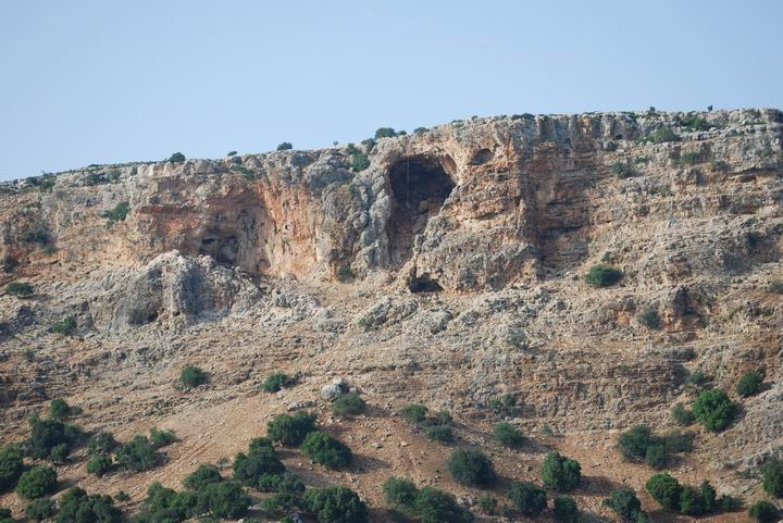 Keshet cave: View from the south