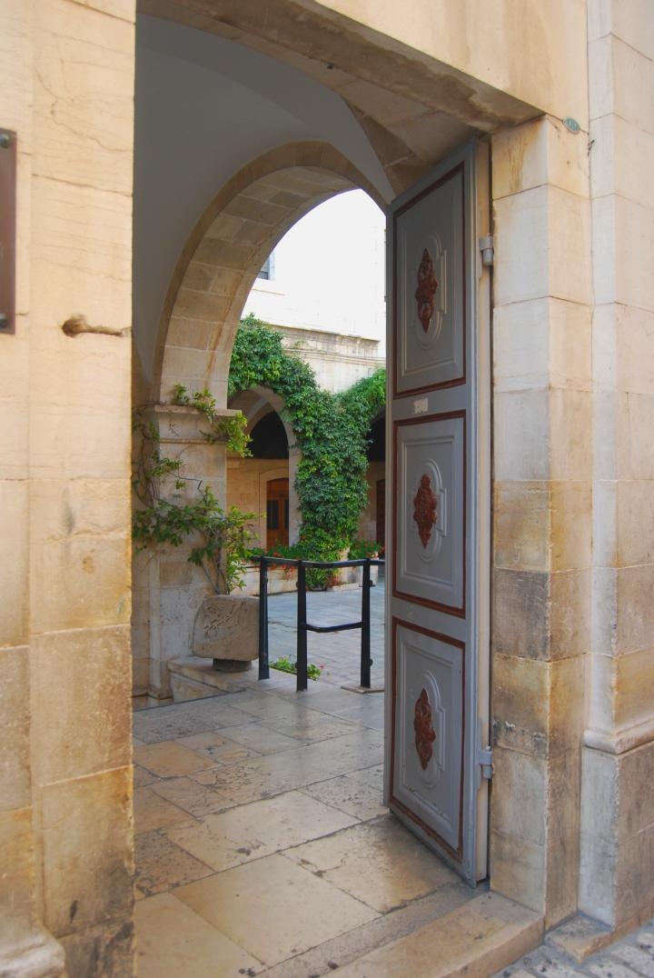 Entrance to the Franciscan monastery