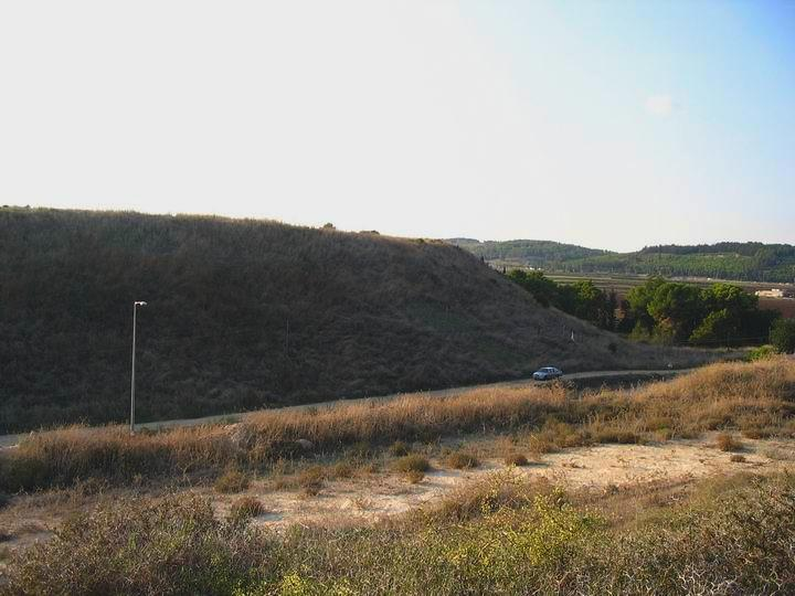 View of Tell Bira, near Kibbutz Yasur
