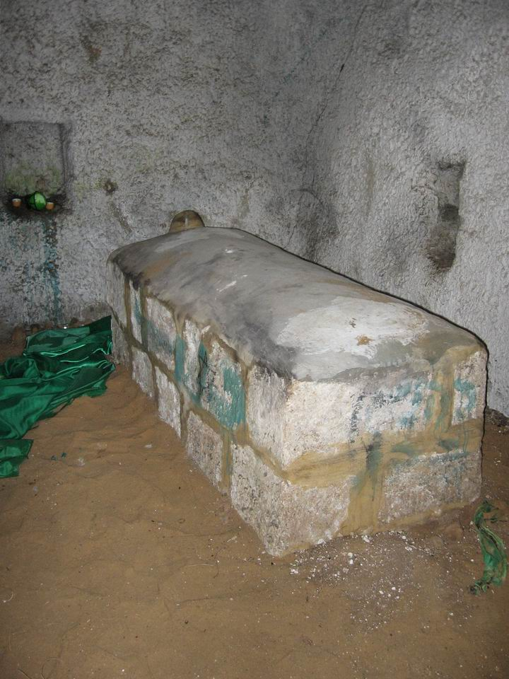 Inside the Tomb of a Sheik, Neby Sawarka, near the tomb of Benjamin.