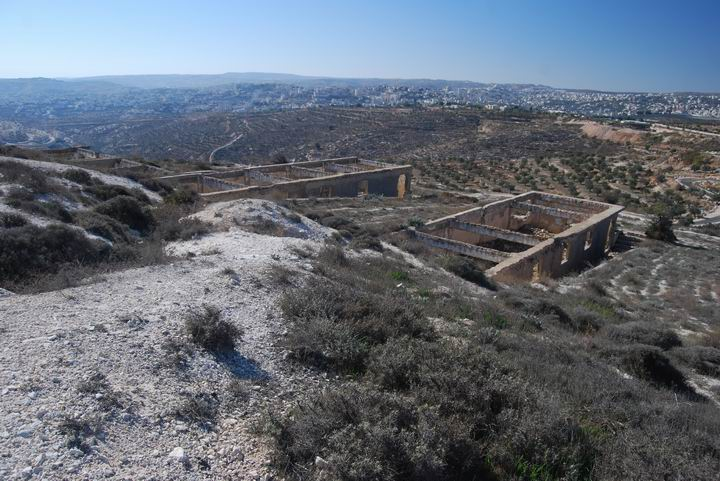 Mar Elias Monastery - east hill - view towards bethlehem