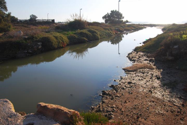 Shavey Zion : outlet of the Beit-Haemek creek