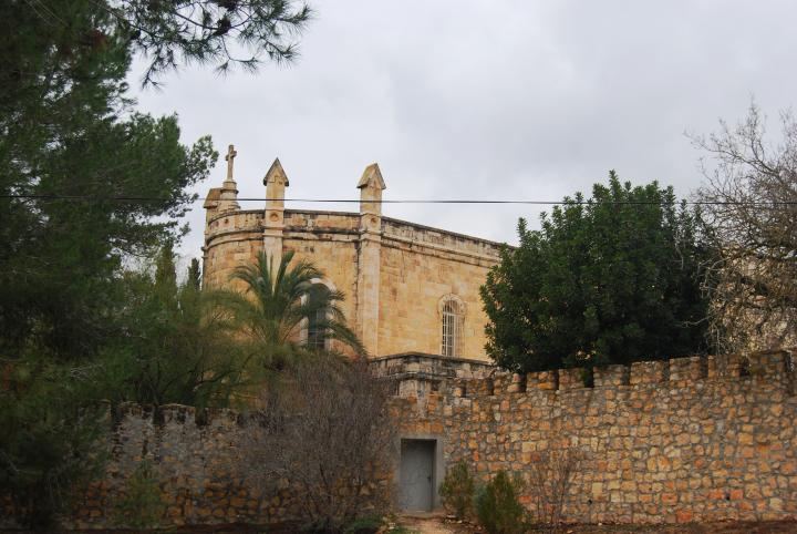 Ein Kerem: Notre Dame de Sion: view from the east