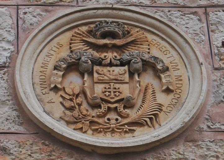St John - Symbol above the entrance to the Monastery