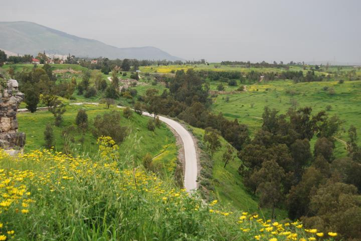 View of Nahal Hard and Gilboa mountains