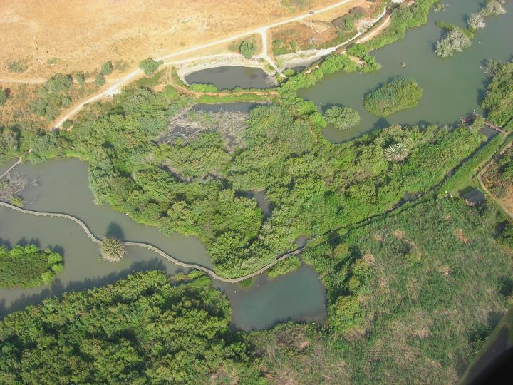 Ein Afek - Aerial view of the large lake