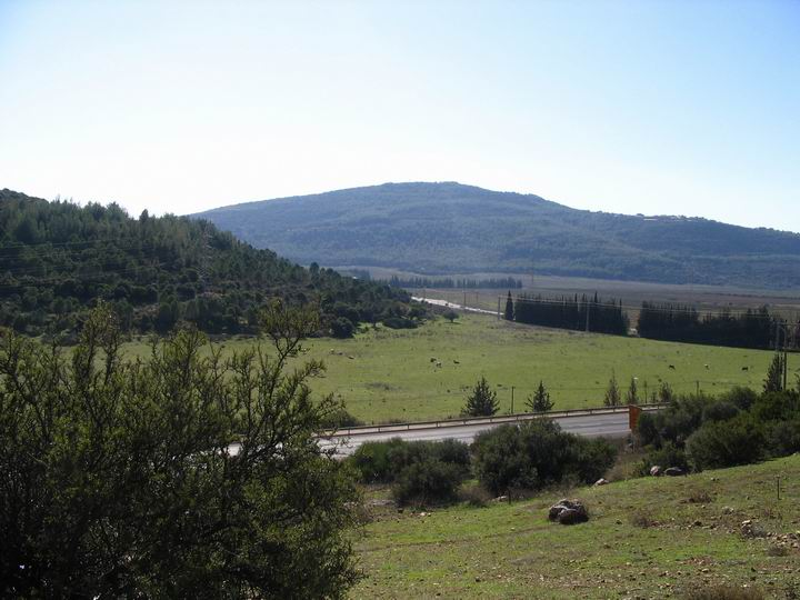 View from Kefar Hannania towards the south - the Hannania valley.