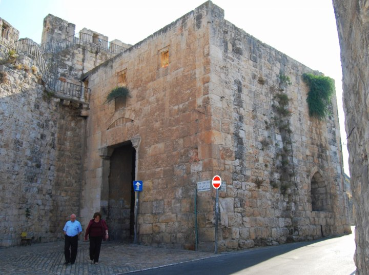 Zion gate - View inside the old city.