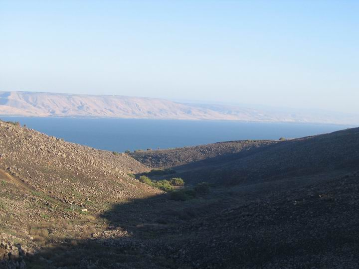 View from Korazim area towards the north of sea of Galilee.