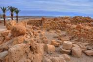 Qumran - in the north-western side of the Dead Sea