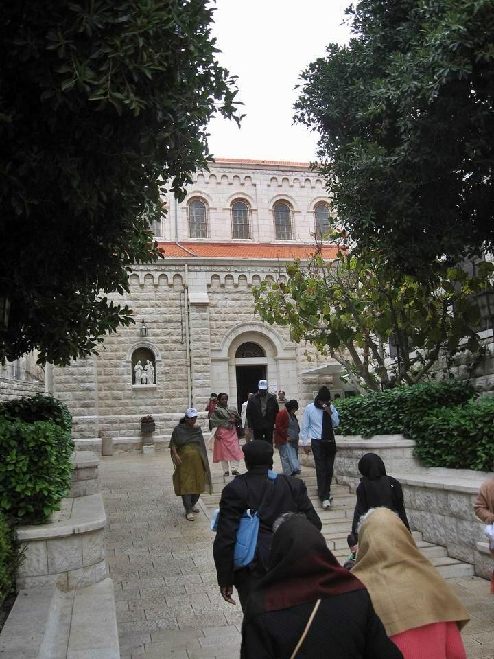 South side of St Joseph church in Nazareth.