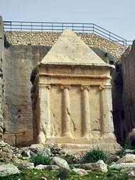 Tomb of Zecharia in Kidron valley.