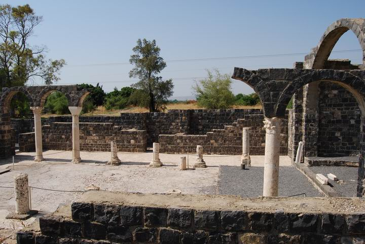 Basilica of Kursi; view towrds north