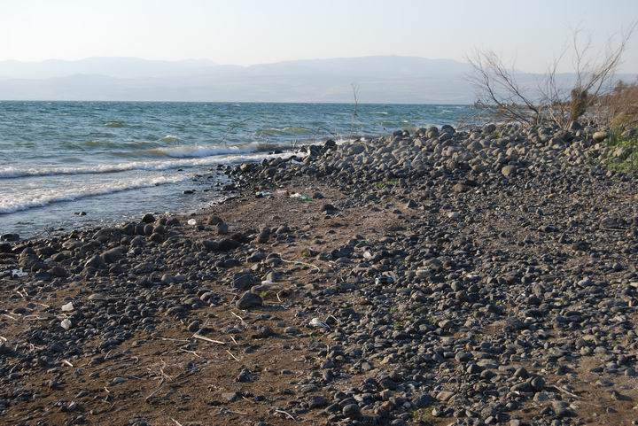 Shore of Sea of Galilee near Kursi