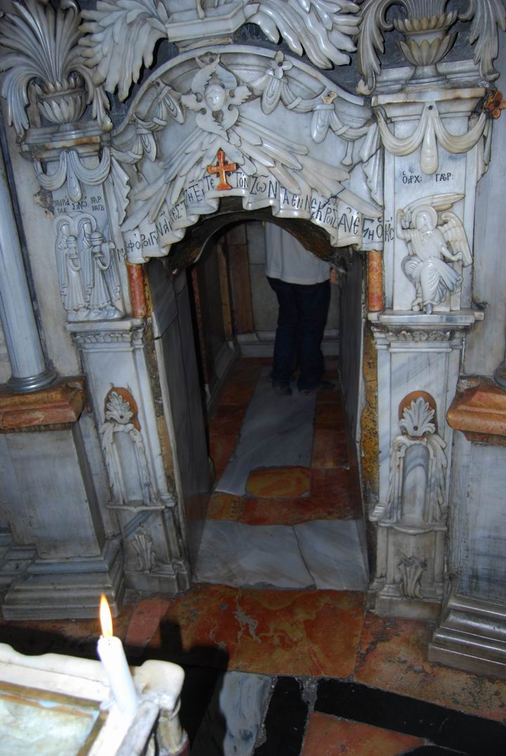 Entrance to the tomb of Jesus